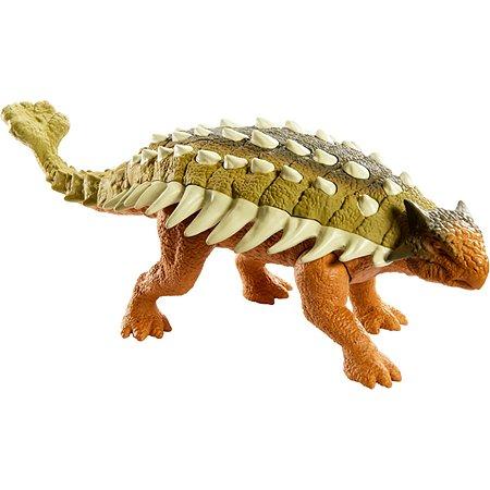 Фигурка Jurassic World Динозавр Анкилозавр Коричневый GHT09