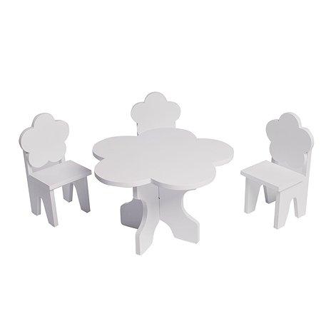 Мебель для кукол PAREMO Цветок набор 4предмета Белый PFD120-42