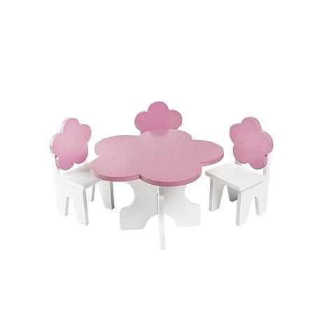 Мебель для кукол PAREMO Цветок набор 4предмета Розовый PFD120-43