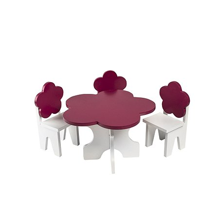 Мебель для куколй PAREMO Цветок набор 4предмета Белый-ягодный PFD120-44