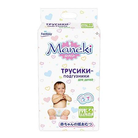 Подгузники-трусики Maneki M 6-11кг 56шт