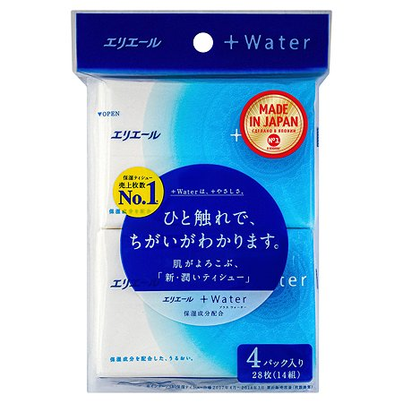 Салфетки бумажные Elleair Water 4*14шт