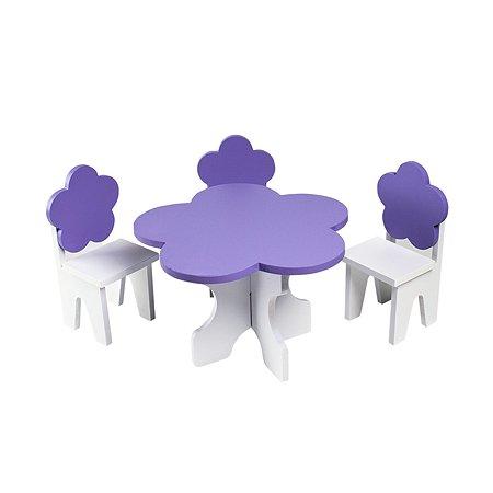 Мебель для куколй PAREMO Цветок набор из 4предметов Белый-фиолетовый PFD120-45