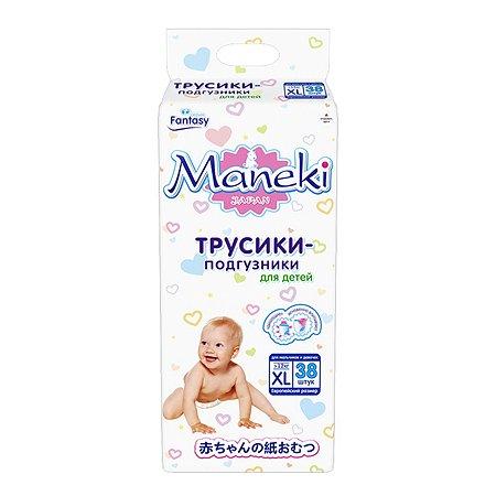 Подгузники-трусики Maneki XL больше 12кг 38шт