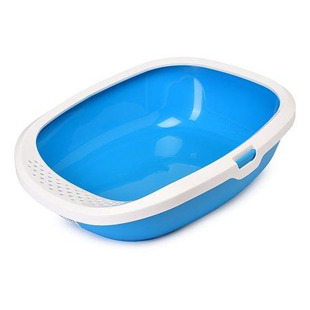 Туалет для кошек Savic Gizmo со съемным бортом Голубой