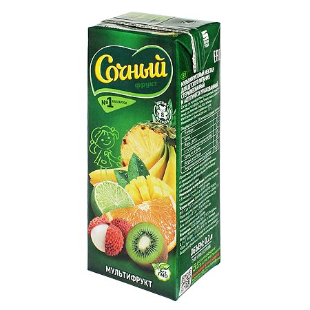 Нектар Сочный фрукт мультифрукт 200мл с 8месяцев