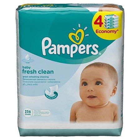 Салфетки Pampers BabyFreshClean влажный сменный блок 4*64шт