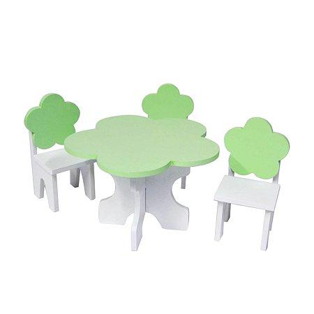 Мебель для кукол PAREMO Цветок набор Белый Салатовый PFD120-46