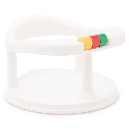 Сиденье детское Полимербыт для купания на присосах Белое