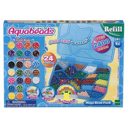 Большой набор Aquabeads ювелирных и жемчужных бусин Мега с палитрой