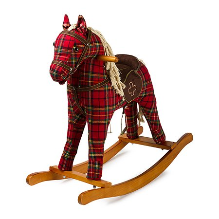 Игрушка-качалка Baby Go Лошадка шотландка