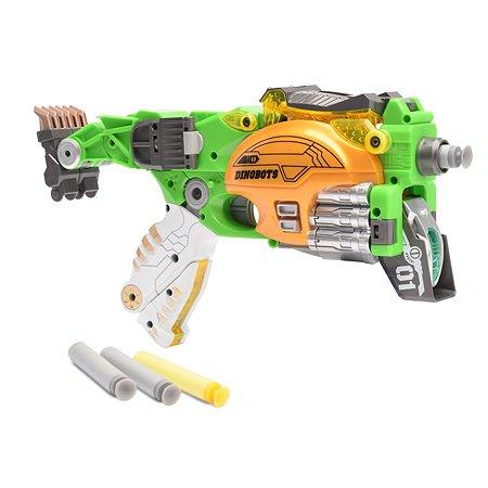 Пистолет-робот 2 в 1 Devik Toys Стегозавр с 6 мягкими патронами