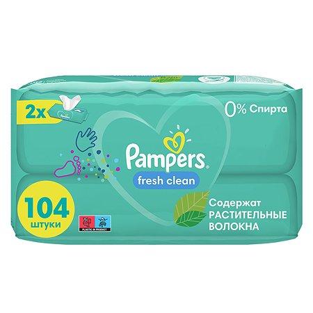 Cалфетки влажные Pampers Fresh Clean Duo 104шт