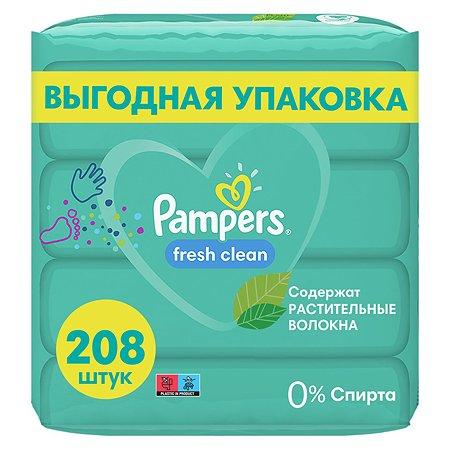 Cалфетки влажные Pampers Fresh Clean Quatro 208шт