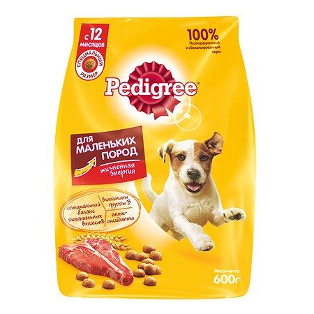 Корм для собак Pedigree для мелких пород с говядиной сухой 600г