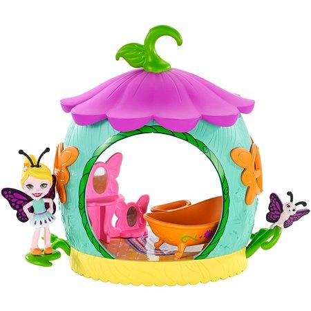 Набор игровой Enchantimals Petal Park Ванная с куклой Бакси Бабочка FXM97