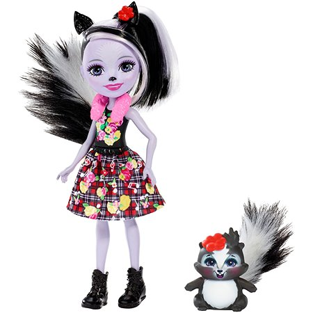 Набор Enchantimals кукла Сэйдж Скунси и Кейпер FXM72