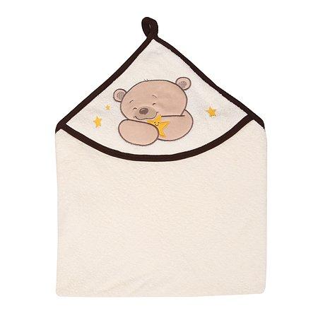 Полотенце AMARO BABY Little Animal с уголком Бежевый