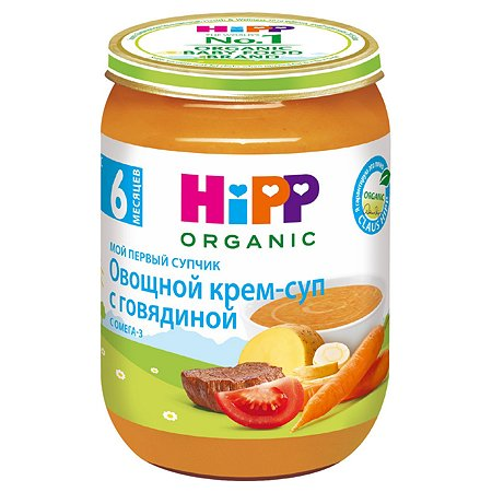 Крем-суп Hipp овощи-говядина 190г с 6месяцев