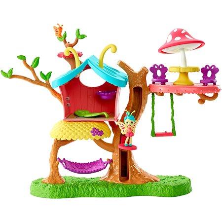 Набор игровой Enchantimals Клубный дом с куклой Бакси Бабочка GBX08