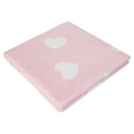 Одеяло байковое Babyton Сердечки Фламинго 57-6ЕТЖ