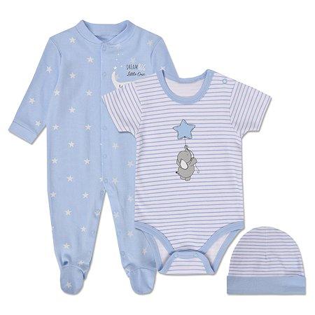 Комплект BabyGo боди + комбинезон + шапочка