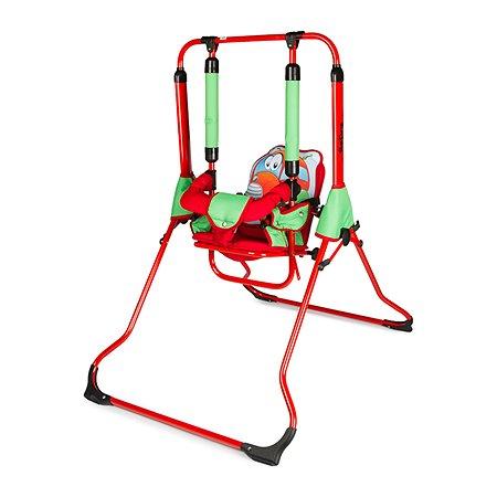 Качели Tako складные Красные-Зеленые рисунок машина опоры красные