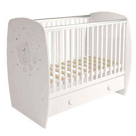 Кровать Polini kids French 710 Teddy с ящиком Белый