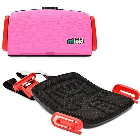 Бустер Mifold автомобильный the Grab-and-Go Booster seat/Perfect Pink розовый