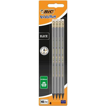 Набор карандашей BIC чернографитных Evolution Black