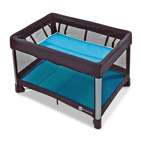 Манеж-кроватка 4Moms Breeze голубой