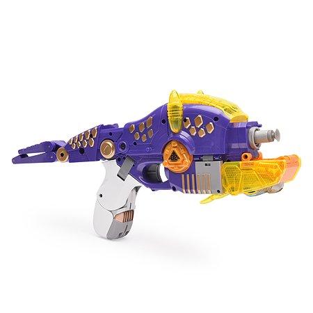 Пистолет-робот 2 в 1 Devik Toys Трицератопс с 6 мягкими патронами