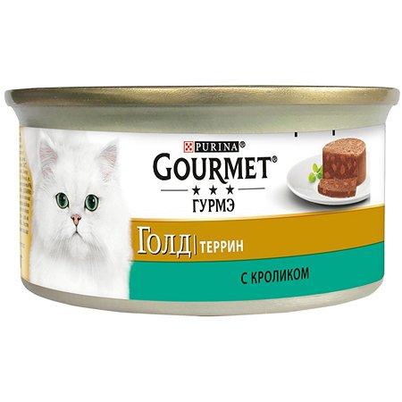 Корм влажный для кошек Gourmet Gold 85г Террин кролик по-французски консервированный