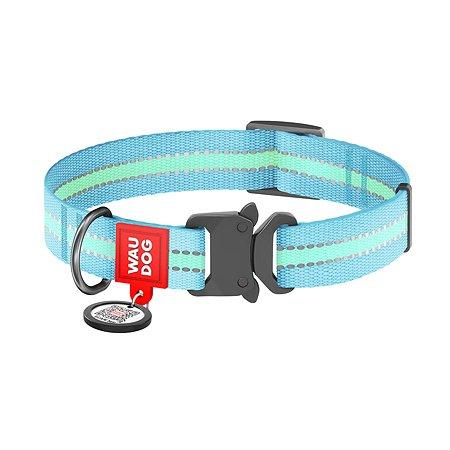 Ошейник для собак Waudog Nylon светонакопительный малый Синий 52122