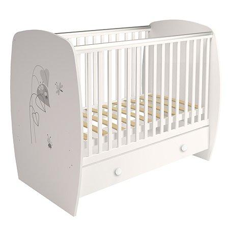 Кровать Polini kids French 710 Amis с ящиком Белый