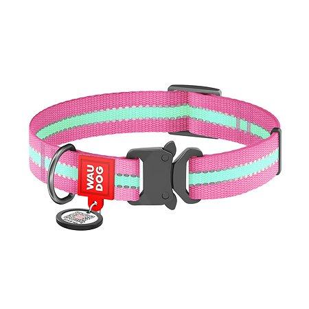 Ошейник для собак Waudog Nylon светонакопительный средний Розовый 52137