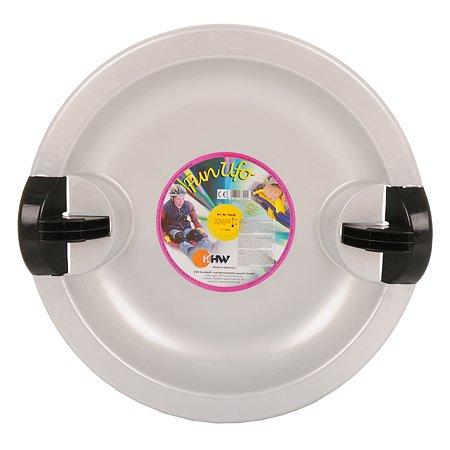 Санки-тарелка KHW Fun Ufo с тормозом Silver Серебро 76220