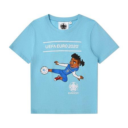 Футболка UEFA голубая