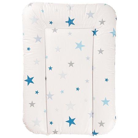 Матрас Geuther беспружинный Белый с синими звездами