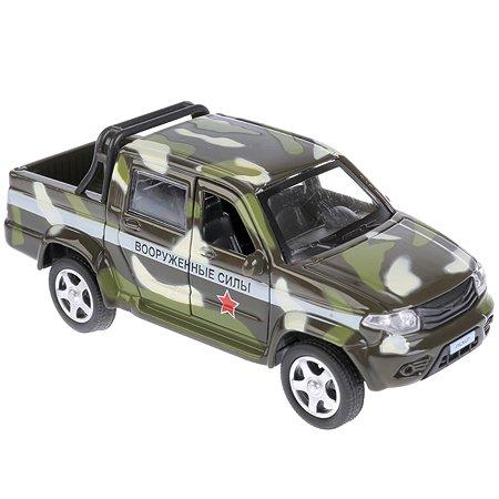 Машина Технопарк UAZ Pickup Военный инерционная 259367