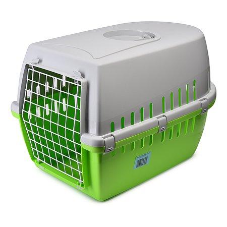 Переноска для животных Savic Trotter-3 Зеленый-Лимон-Серая