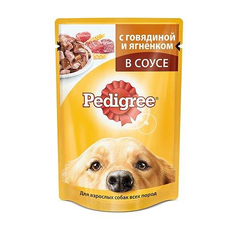 Корм для собак Pedigree с говядиной и ягненком пауч 100г