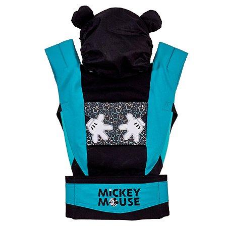 Рюкзак-кенгуру Polini kids Disney baby Микки Маус с вышивкой Черный
