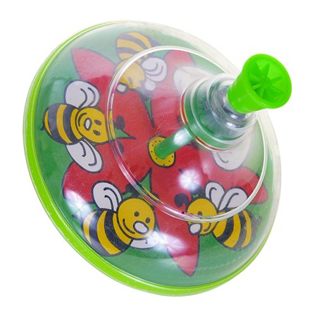 Юла Пеликан Пчелка прозрачная 0203
