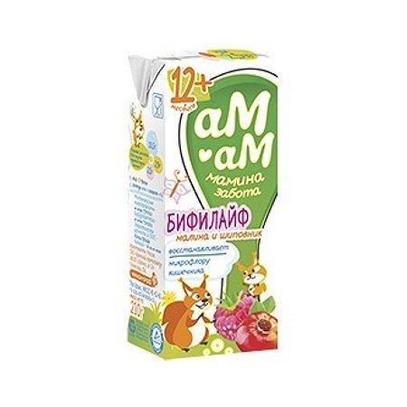 Бифилайф Ам-Ам малина-шиповник 2.5% 0.21л с 12месяцев