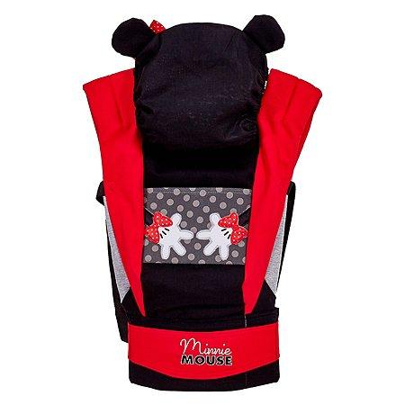Рюкзак-кенгуру Polini kids Disney baby Минни Маус с вышивкой Черный