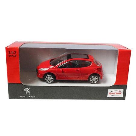 Машинка Rastar Peugeot 207 1:43 красная
