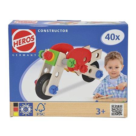 Конструктор HEROS Мотоцикл 2 модели 40 деталей