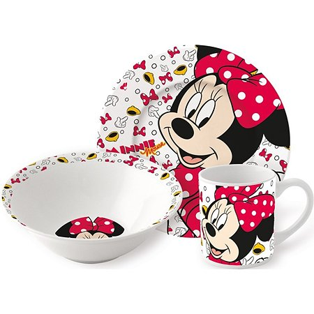 Набор керамической посуды STOR в подарочной упаковке Snack Set Oh Minnie Icons (3 шт.)