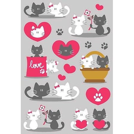 Интерьерный стикер Decoretto Котенок белый/котенок серый